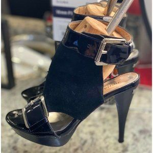 Michael Kors Black Suede and Patent Leather Shoes